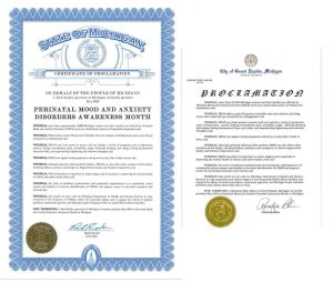 May 2018 Proclamations of PMAD Awareness Month