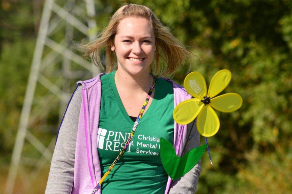 Pine Rest staffer at annual Alzheimer's Association Walk