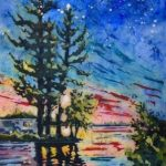 Stars of Heaven Painting by Carole Hunnes-Nielsen