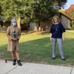 Maranda visits Christian Homes residents and supervisor Nancy Carter