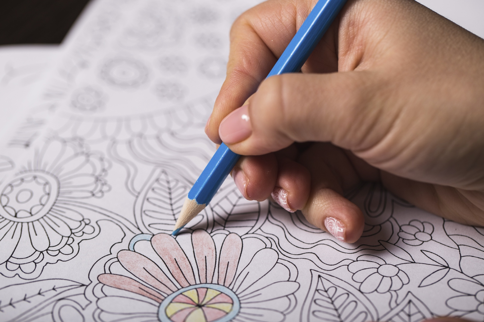 coloring therapy mandalas pine rest activity therapy
