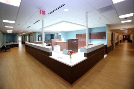 Older Adult Unit nurses station in the Van Andel Cook Center for Dementia & Geriatric Behavioral Health