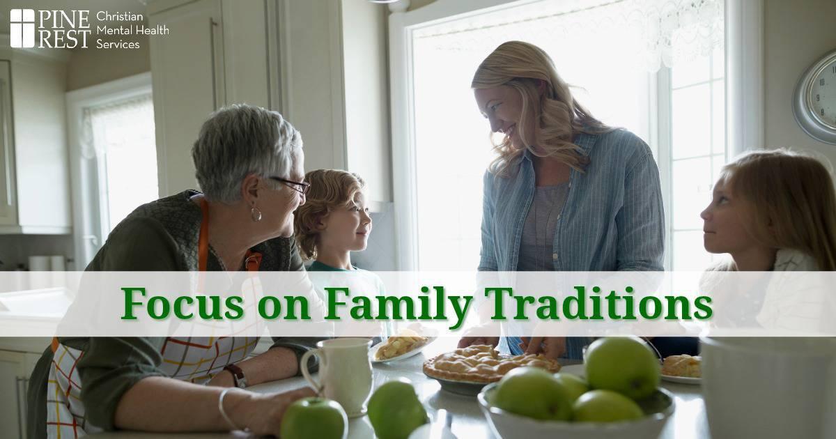 Three generations of women making apple pie