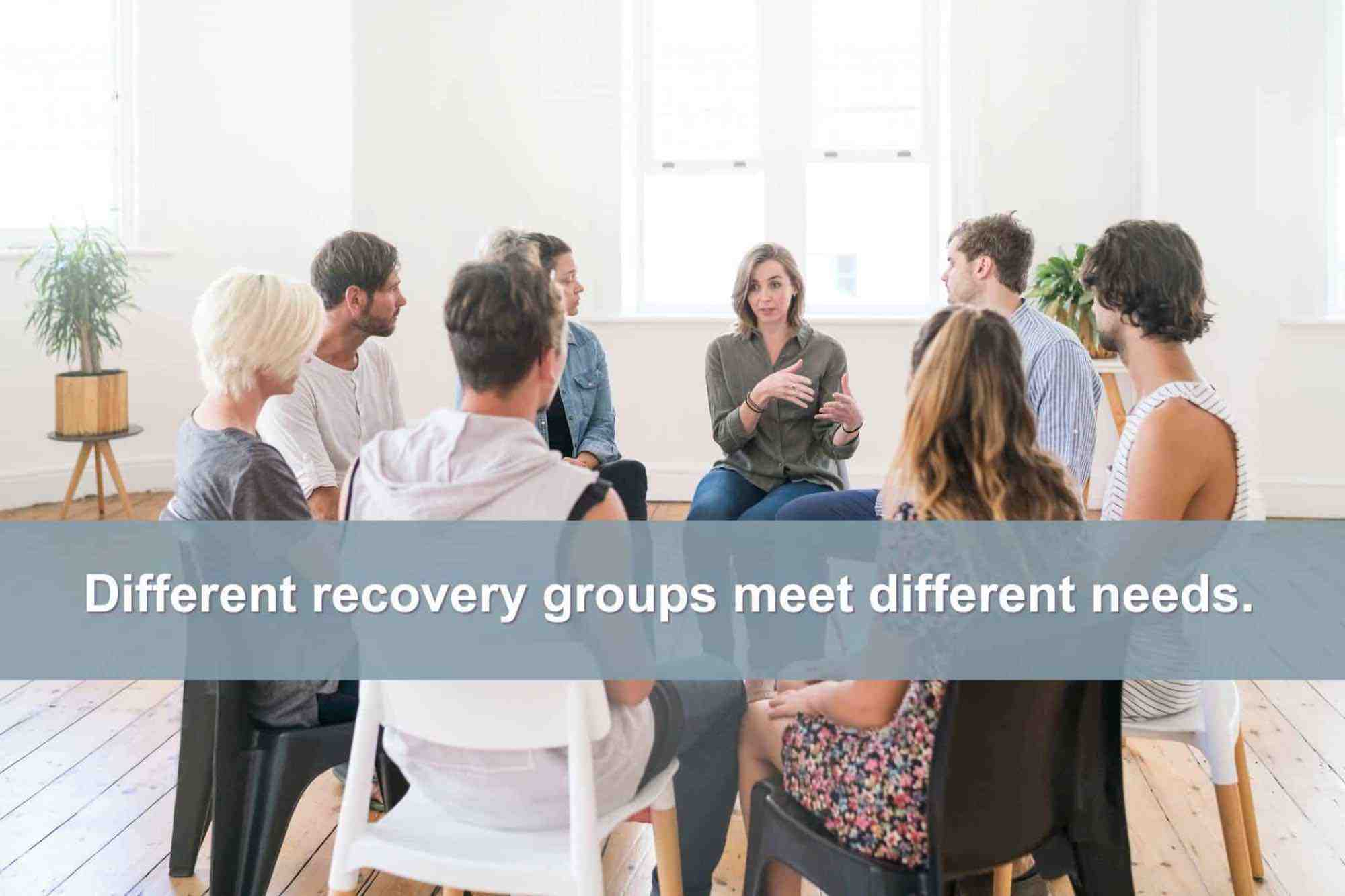 Recovery group therapy meeting