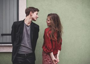 Teenage boy and girl looking at each other | Teen Dating Violence Blog